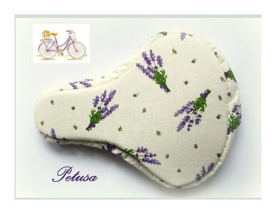 Lavender seat cover bike spring fashion by PetusaSelection on Etsy