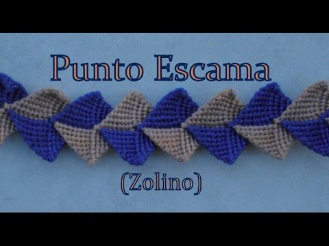 ▶ Pulsera de Hilo: Punto Escama - YouTube