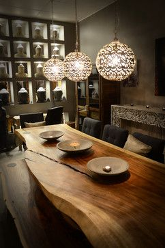 Asian Dining Room Tables | 23,410 High End Dining Table Home Design Photos   I especially like the lights