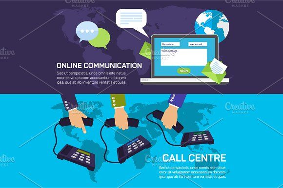 Technical support call center by Elegant Solution on @creativemarket