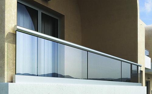 Crystalline - Σύστημα Στήριξης Υαλοπίνακα. Τύπος Α10. Σύστημα επιδαπέδιας στήριξης υαλοπίνακα 10mm με κουπαστή. Crystalline - Railing System. Type A10. On-floor support system with 10cm glass.