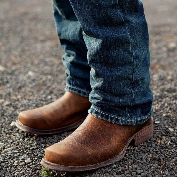 Ariat Men39s Rambler Brown Bomber Square Toe Boot 10002317