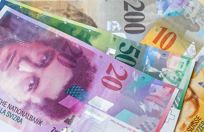 The Swiss Franc. I have some of these from when I was in Europe. :) They are very colorful and again, show some major people of history on their bills. I'm sensing a theme.