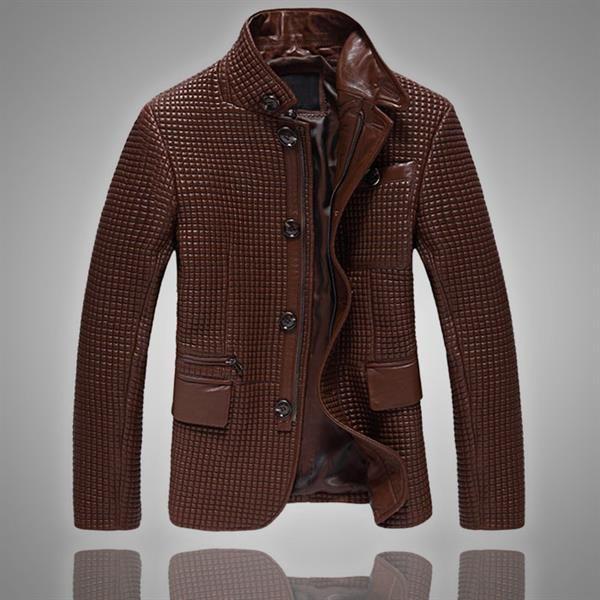 Куртка кожаная длинная зимняя