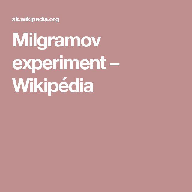 Milgramov experiment – Wikipédia