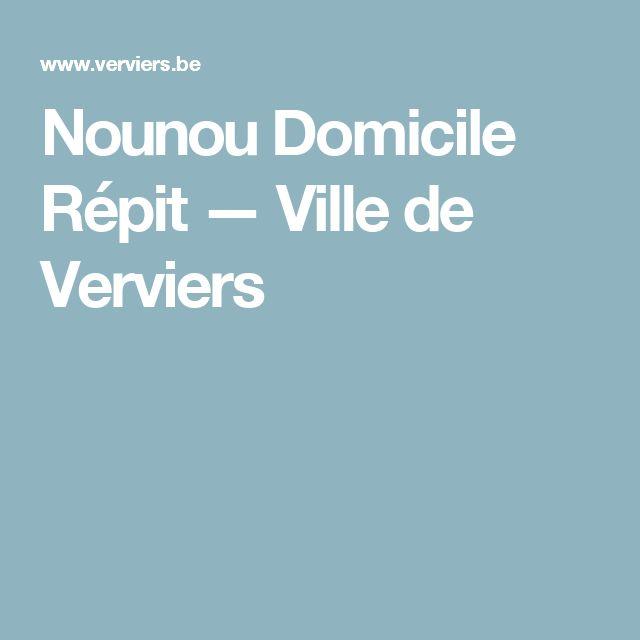 Nounou Domicile Répit — Ville de Verviers