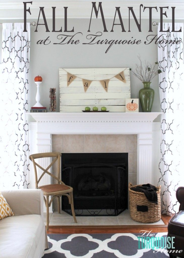 Planked Pallet Fall Mantel Reveal Fall MantelsMantlesFireplace