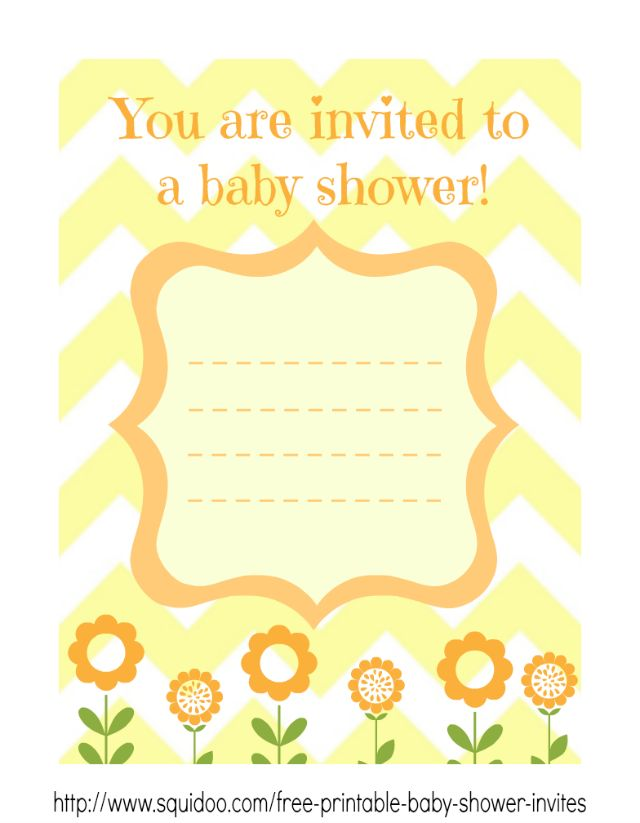 yellow shower invitation template perfect for girls and boys free baby