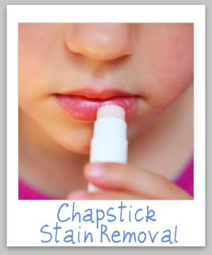 chapstick stain removal