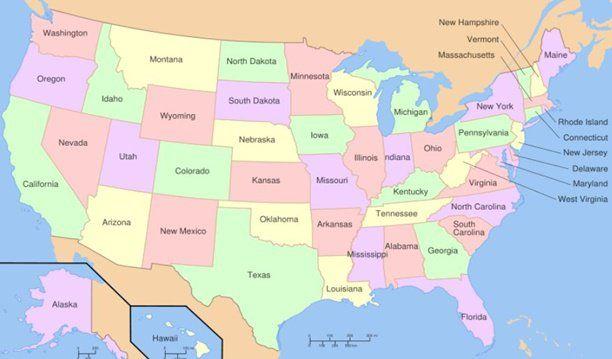 Divisão Política, Urbanização, Agricultura, Pecuária, Extrativismo e Setor Terciário dos Estados Unidos