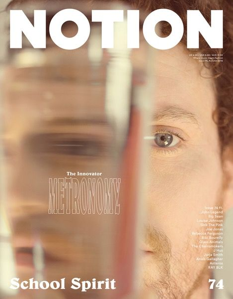 Metronomy, The Innovator Cover - Notion 74  Magazine Cover. Photography: Charlie Gates