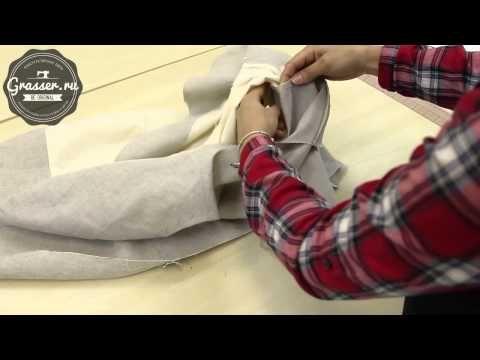 Последовательность соединения жилета с подкладом. Открытые уроки кройки и шитья в GRASSER. - YouTube