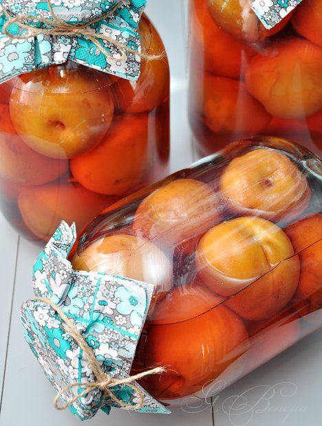Вкусная пауза - Компот с персиками, или персики в сиропе.