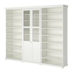 IKEA - LIATORP, Storage combination, Cornice and plinth rail help create a…