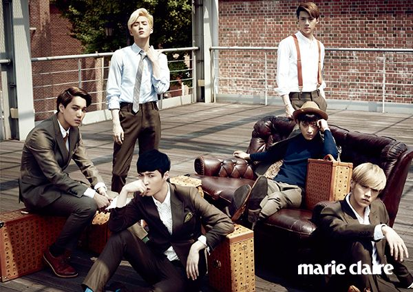 EXO Marie Claire Korea October 2014 Look 7