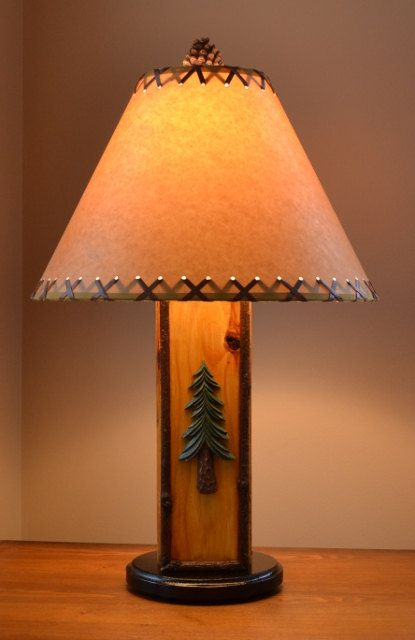 17 Best images about Rustic Cabin Lamps by Cabin Basics on – Tree Desk Lamp
