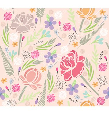 Seamless floral pattern vector - by lapesnape on VectorStock®