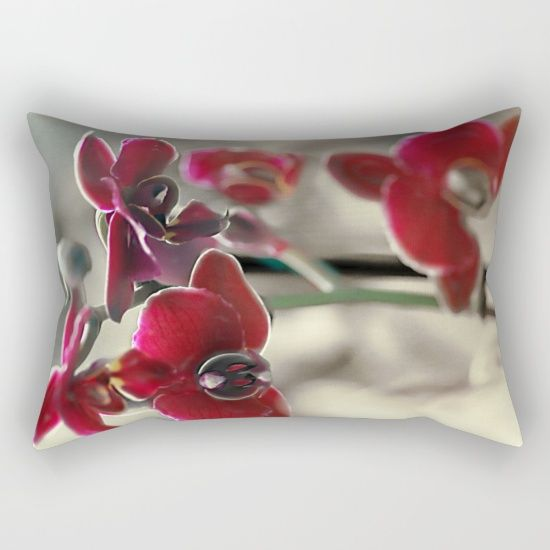 The mystery of orchid(11) Rectangular Pillow    #pillows #society6 #orchid #nature #flowers #maryberg #homedesign  #throwpillows #sofa #salon #decorative  #textile #purple #christmas  #blue #flower  #pattern #gift