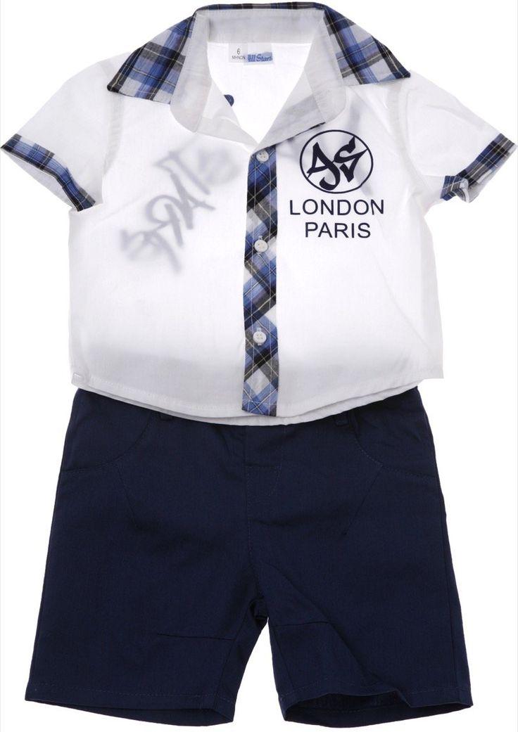 All Star βρεφικό σετ πουκάμισο-παντελόνι βερμούδα «London» - Παιδικά ρούχα AZshop.gr