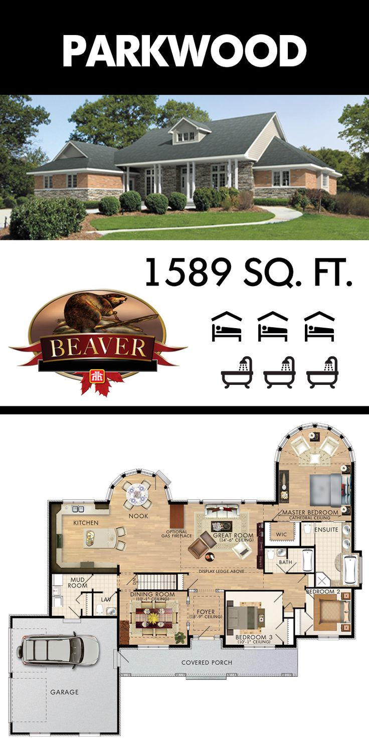 104 best Beaver Homes and Cottages images on Pinterest | Floor plans ...
