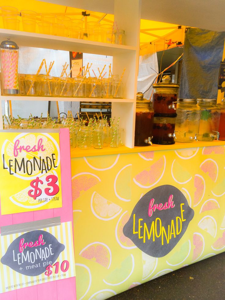 Lemonade cart complete with signage by www.imprintables.com.au