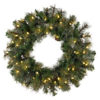 Vickerman Modesto Mix Pine Pre-Lit Wreath - A140731, Durable