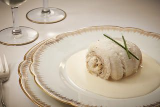Crab-Stuffed Sole Paupiettes with Sauce Vin Blanc  Recipe