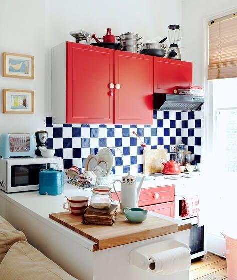 Un studio minuscule ? Une cuisine très étroite ? Une chambre dans un living ? Voici 40 idées pour aménager les petits espaces.     Toujours en L, version US.    Focus : Home, décoration, petits espaces, aménagement, intérieur