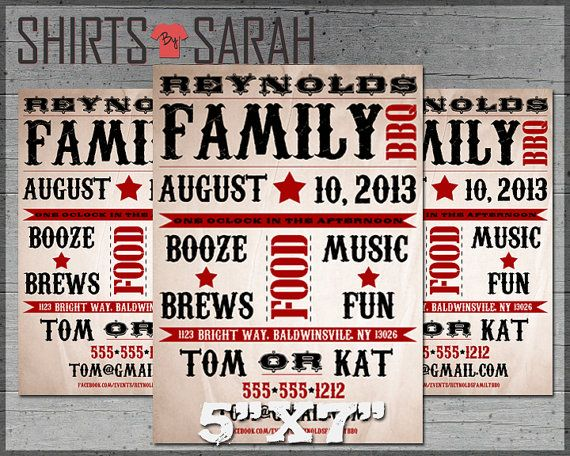 7 best Family Reunion Invitations images on Pinterest Family - invitations for family reunion