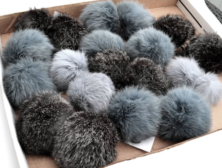 """Excited to share the latest addition to my #etsy shop: 4-4,5"""" FUR POM POM! Natural Rabbit Pom Pom, Double Rabbit Pom Pom, Fur Pompom, Rabbit Fur, Pom Pom for Hat, Children, Beanie, fur ball http://etsy.me/2CFcZ2p #supplies #gray #hatmakinghaircrafts #rabbitpompom #furp"""