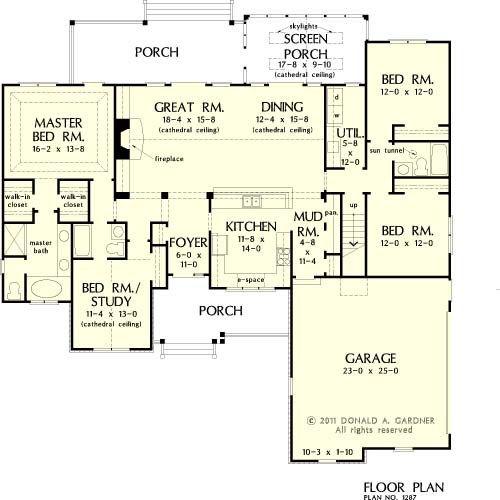 Great room home floor plans