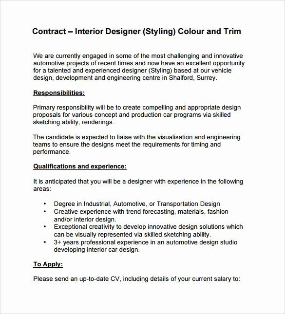 25 Interior Design Proposal Sample Pdf In 2020 Contract Template Free Graphic Design Contract Interior Design