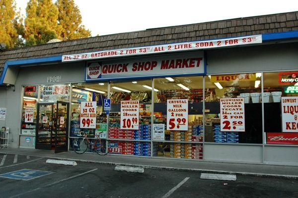 Quick Shop Market - 1964 East 8th St., Davis, CA  95616; (530) 231-5616; Store Hours: Sun through Saturday open until 11 pm