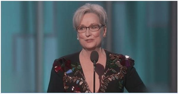 We all remember the twenty minutes of dribble that came out of Meryl Streep's mouth at some narcissistic awards show about a month ago, where actors and actresses gathered to celebrate themselves and all things