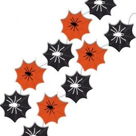 Decorate your Halloween party venue with this spooky spider web garland! Perfect to hang around the ceiling and on walls. 2.4m long (8ft) approx. This is a decoration, not a toy. Please keep out of reach of children.