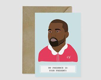 Hot Laundry Paper Co. Christmas card - Kanye West