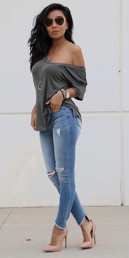 42 Fashion Teenage To Not Miss #shouldertop #blouse #shoulder #blusas