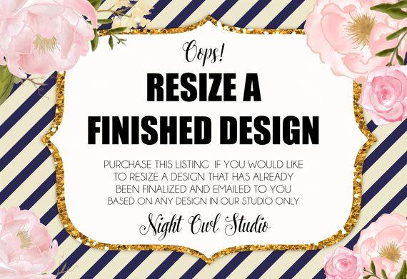 RESIZE a Finished Design-Edit Size-Night by NightOwlStudioDesign