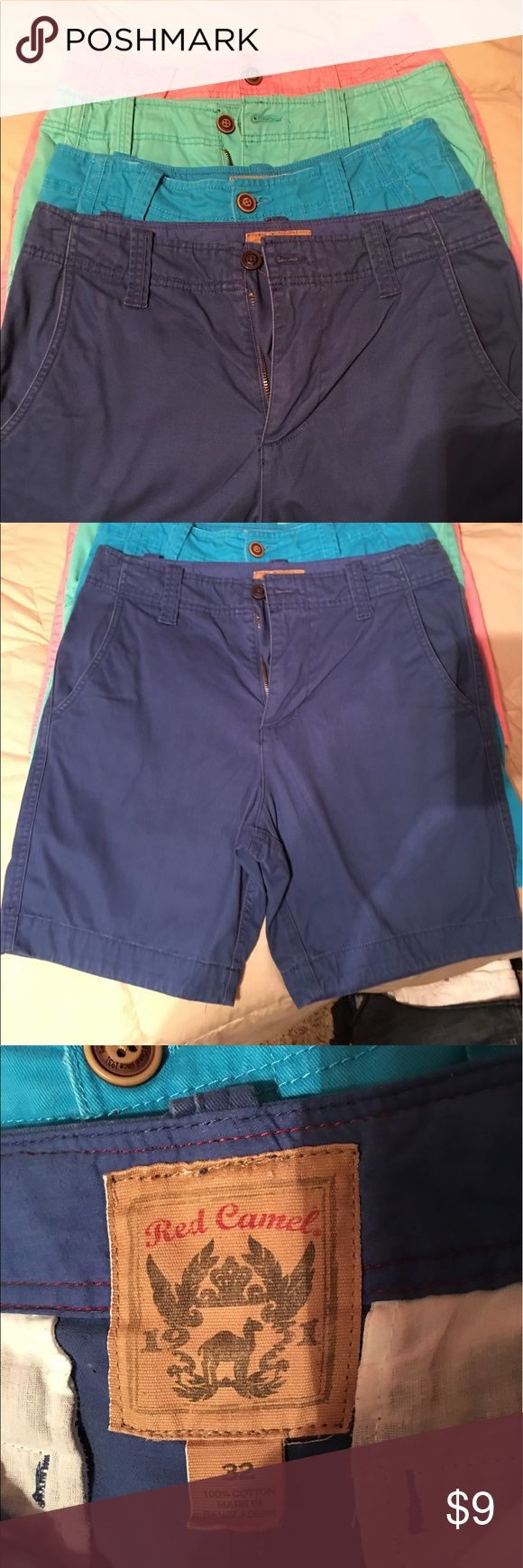 "Pink- Men's Red Camel shorts One pair PINK of Red Camel Chino flat fronted short. 9 1/2"" inseam. Smoke free pet free home. Wore very few times. Nice color pink. Or you can bundle with the other colors in my closet. No spots or stains. Red Camel Shorts Flat Front"