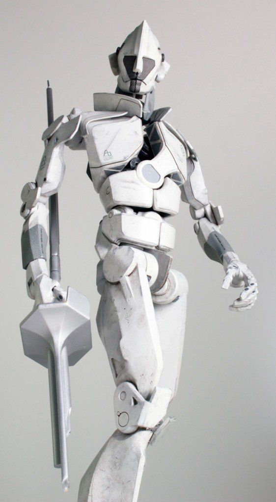 "Singleton the Robot Emerges from the ""Grey Goo"" as a 3D Printed Robot by 3D Systems http://3dprint.com/40601/singleton-3d-printed-robot/"