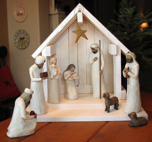 Nativity Creche Stable for Willow Tree  WITH by SilverHollyLLC, $69.00