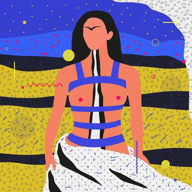 "Famous Paintings Interpretation ""The Broken Column"" Frida Kahlo  ___________________________________ ... #illustration #painting #vector #frida #kahlo #graphicdesign #color #classic #ewelinagaska #pattern #dribbble #fashion #warsaw #polishart #lovemyjob #lovemylife #happy #series #workinprogress #behance #gfxmob #fubiz #instagood #daily #flat #polishgirls #artist #designinspiration #creativesnack #me #happy"