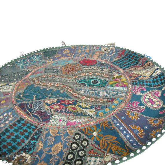 28 Indian Patchwork Embroidered ROUND FLOOR By RoyalFurnish, $27.99 · Indian  Inspired BedroomCushion ...