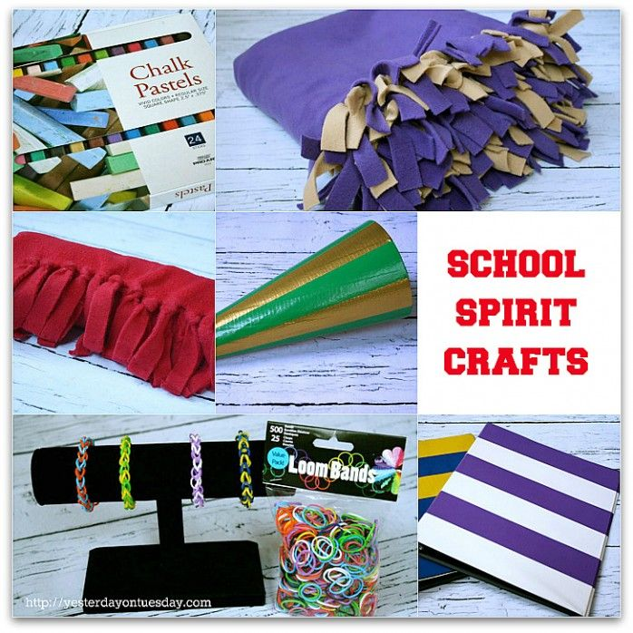 School Spirit Crafts with supplies from @Ben Franklin Crafts and Frames