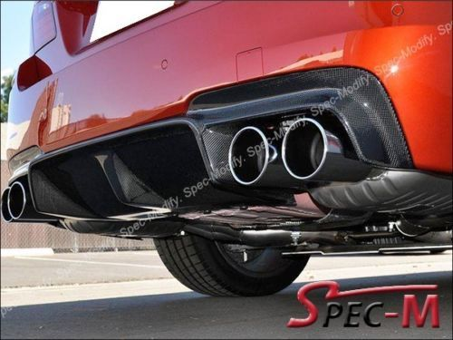 Carbon-Fiber-Rear-Diffuser-Spoiler-Lip-Fit-For-BMW-F10-M5-Bumper-2012-3D-Style