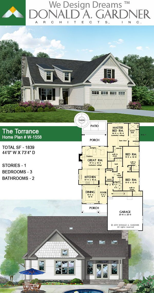 This Rustic Cottage Is Ideal For A Narrow Lot Twin Dormers Draw Interest While Cedar Shakes And Stone Unique Small House Plans House Plans Cottage House Plans