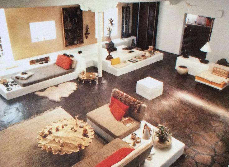 Blueberrymodern Home Of Alexander Girard Living Room