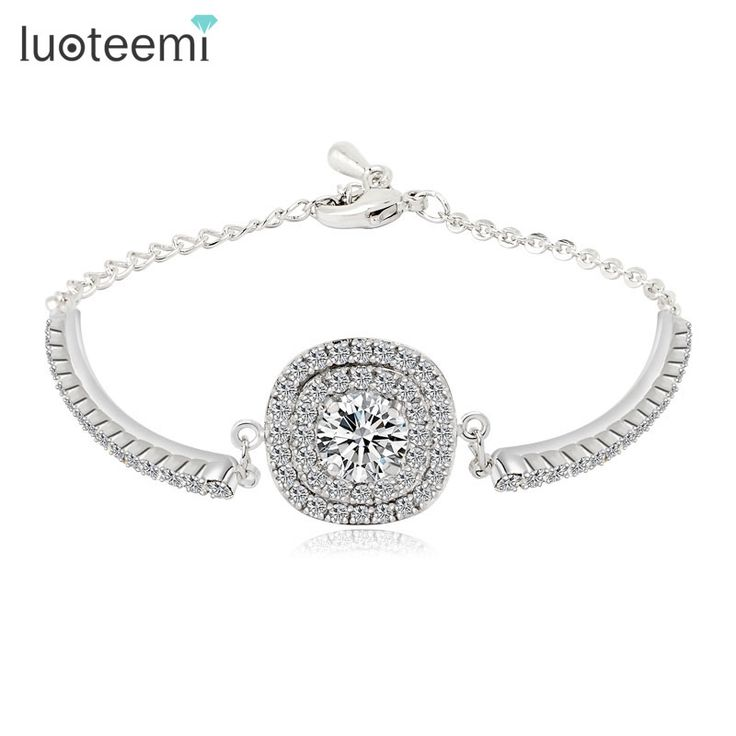 Find More Chain & Link Bracelets Information about LUOTEEMI Brand Link Bracelet Hearts and Arrows Cut Crystal  Zircon Bracelet for Women High Quality Link Bracelets Wholesale S006,High Quality bracelets for,China zircon bracelet Suppliers, Cheap bracelets for women from LUOTEEMI Franchies Store on Aliexpress.com