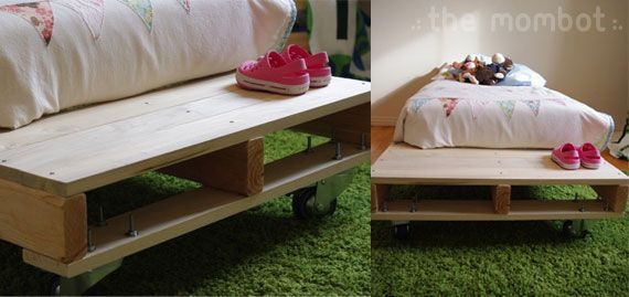 Pallet bed for Abby's big girl room