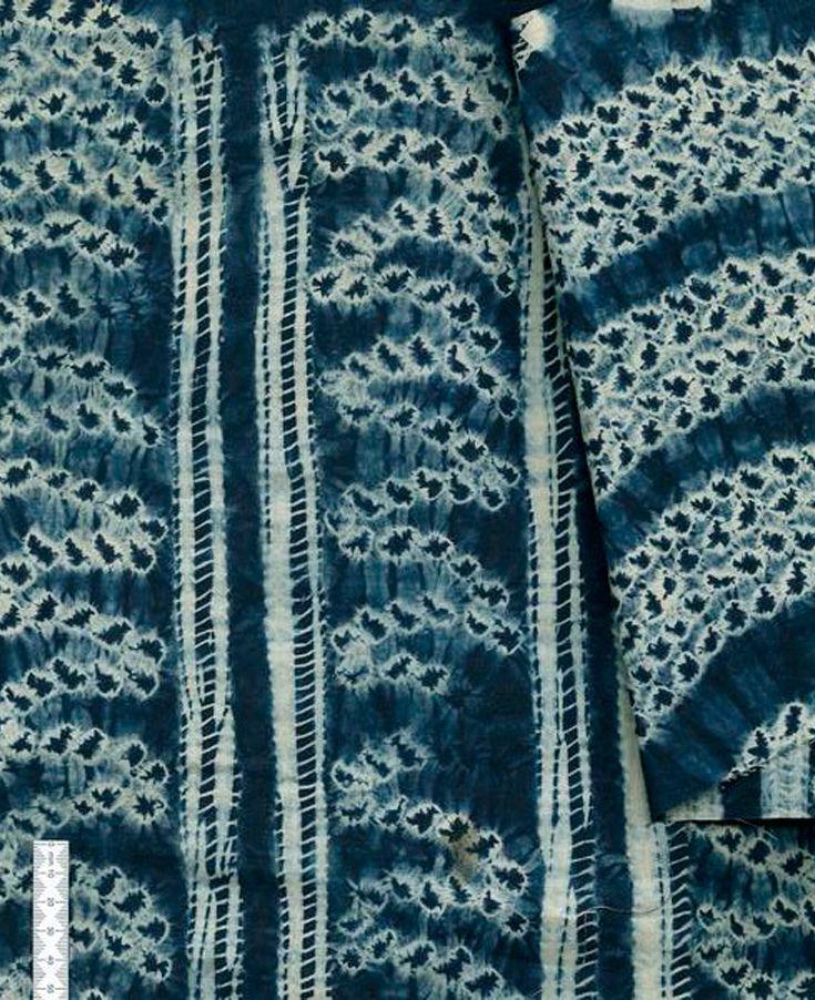 Africa   Stitch resist indigo dyed textile   2nd half of the 20th century